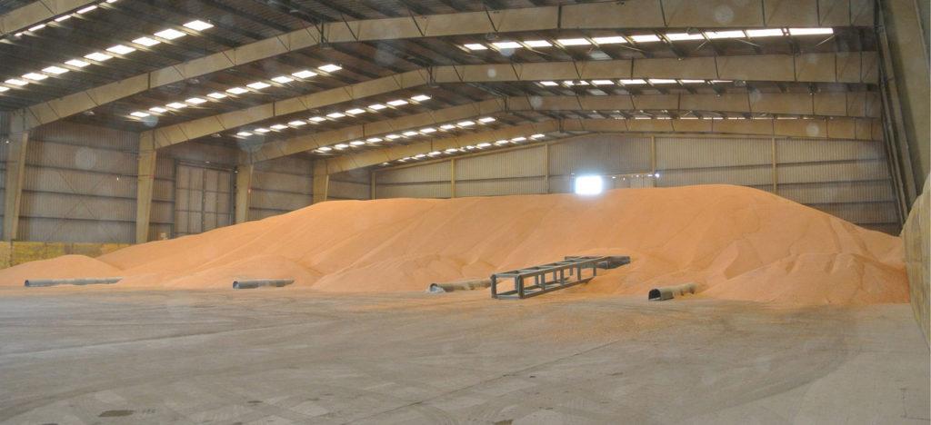 хранение зерна насыпью