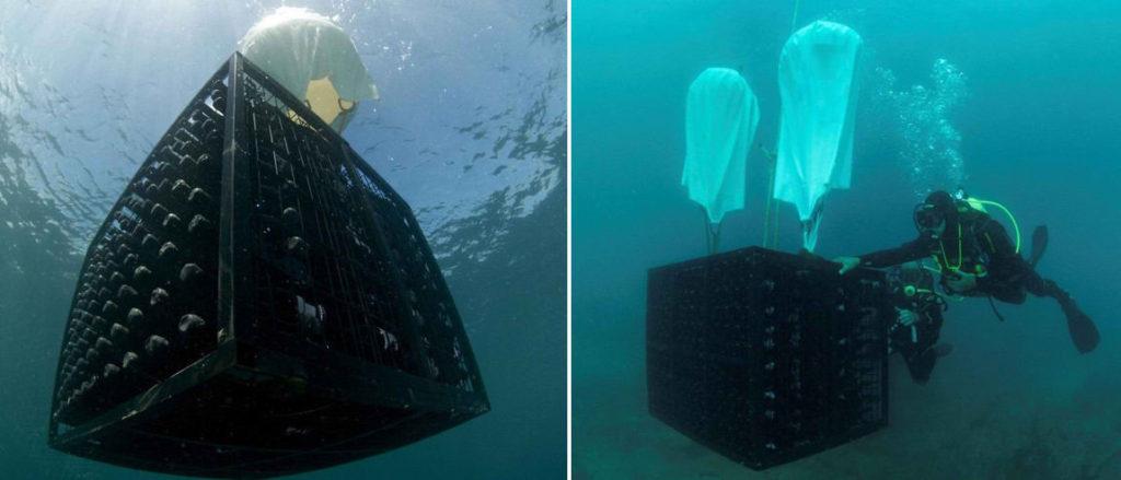 Хранение вина под водой