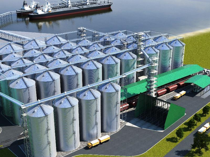 портовые зернохранилища