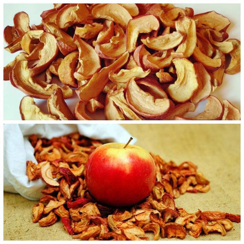 как сохранить сушеные яблоки