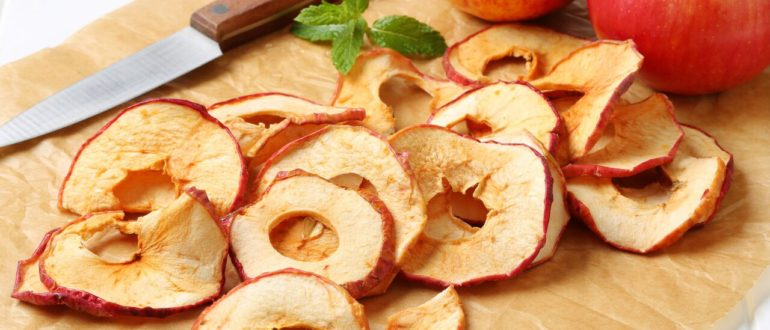 хранение сушеных яблок