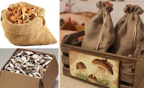 срок хранения сушеных грибов