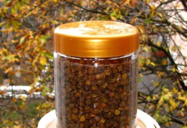 перга пчелиная хранение
