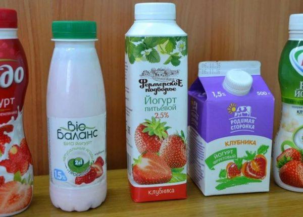 Способ хранения разных видов йогурта